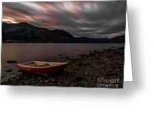 Wanaka Rowboat 2 Greeting Card