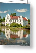 Wanas Castle And Reflection Greeting Card
