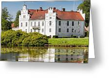 Wanas Slott With Reflection Greeting Card