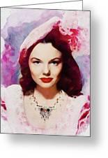 Wanda Hendrix, Vintage Movie Star Greeting Card
