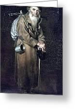Wanderer H 1870 88h54 Am Gtg Vasily Perov Greeting Card