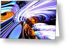Wandering Helix Abstract Greeting Card