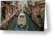 Wandering The Beautiful Venice Canals Greeting Card