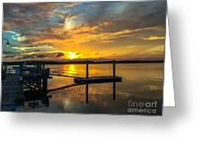Wando River August Sunset Greeting Card