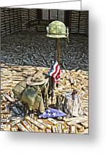 War Dogs Sacrifice Greeting Card by Carolyn Marshall