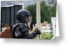 War Horse IIi - Tarqui Protest Greeting Card