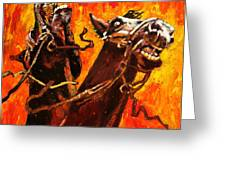 War Horses Greeting Card