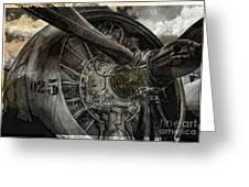 War Plane Propeller Greeting Card