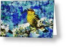 Warbler Of Spring Greeting Card