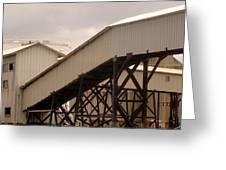 Warehouse Passage Greeting Card