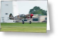 Warhawk Rolling Out Greeting Card