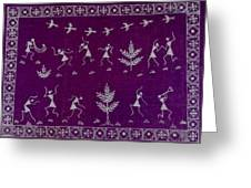 Warli Life Greeting Card