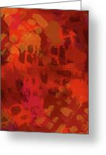 Warm Abstract 1 Greeting Card