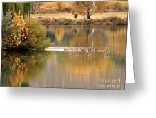 Warm Autumn River Greeting Card