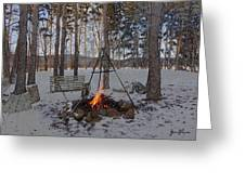 Warm Camp Fire Greeting Card