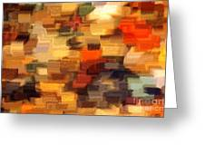 Warm Colors Abstract Greeting Card