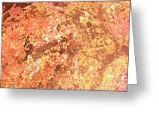 Warm Colors Natural Canvas 2 Greeting Card
