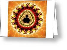 Warm Colors Orange Yellow Red Mandelbrot Fractal Greeting Card