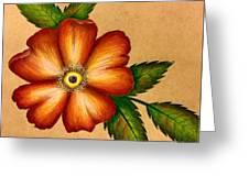 Warm Flower Greeting Card