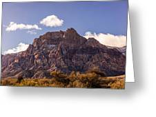 Warm Light In Red Rock Canyon Greeting Card