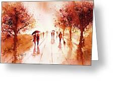 Warm Rain Greeting Card