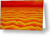 Warm Seascape Greeting Card