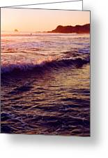 Warm Sunset In Zipolite 3 Greeting Card