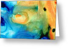 Warm Tides - Abstract Art By Sharon Cummings Greeting Card
