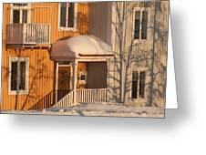 Warm Vinter Facade Greeting Card