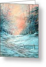 Warm Winter Fantasy Greeting Card