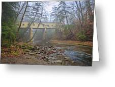 Warner Hollow Rd Covered Bridge Greeting Card