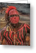 Warpath Shawnee Indian Greeting Card by Randy Steele
