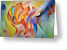 Warping Reality Greeting Card by Peter Shor