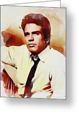 Warren Beatty, Vintage Movie Star Greeting Card