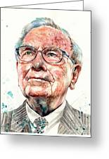 Warren Buffett Portrait Greeting Card