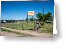Warrenton Texas Antique Days Park Here Greeting Card