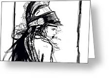 Warrior Girl 1 Greeting Card