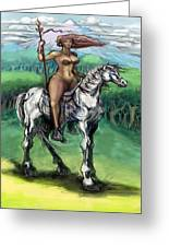 Warrior Maiden Greeting Card