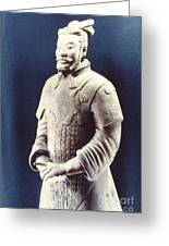 Warrior Of The Terracotta Army Greeting Card
