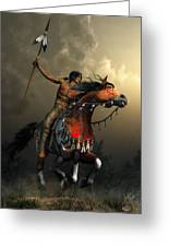 Warriors Of The Plains Greeting Card