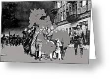 Warsaw Ghetto Uprising Number 1 1943 Color Added 2016 Greeting Card