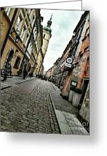 Warsaw, The Old Town Greeting Card