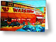 Warshaws Fruitstore On Main Street Greeting Card