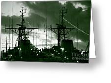Warships At Twilight Greeting Card