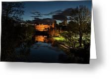 Warwick Castle At Night Greeting Card