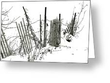 Was Once A Fence... Now Retired Greeting Card