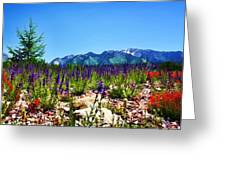 Wasatch Mountains In Spring Greeting Card by Tracie Kaska
