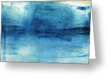 Wash Away- Abstract Art By Linda Woods Greeting Card