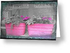 Wash Tub Planters Greeting Card