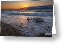 Washed Up Crab Cage 16x9 Greeting Card